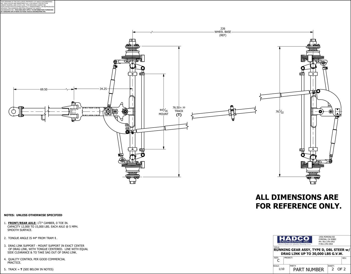 Stupendous Heavy Duty Running Gear Hadco Engineering Wiring Database Wedabyuccorg